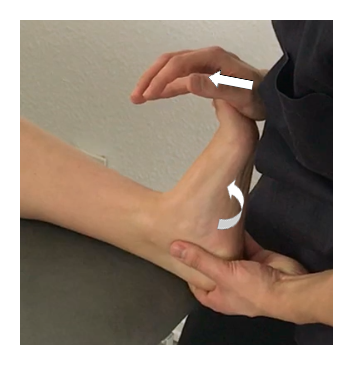Test de dorsiflexion et d'eversion
